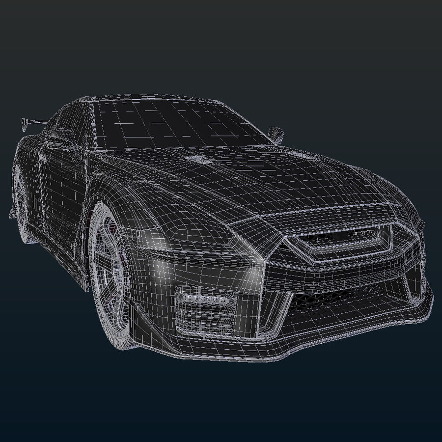 Nissan GT-R Nismo royalty-free 3d model - Preview no. 20