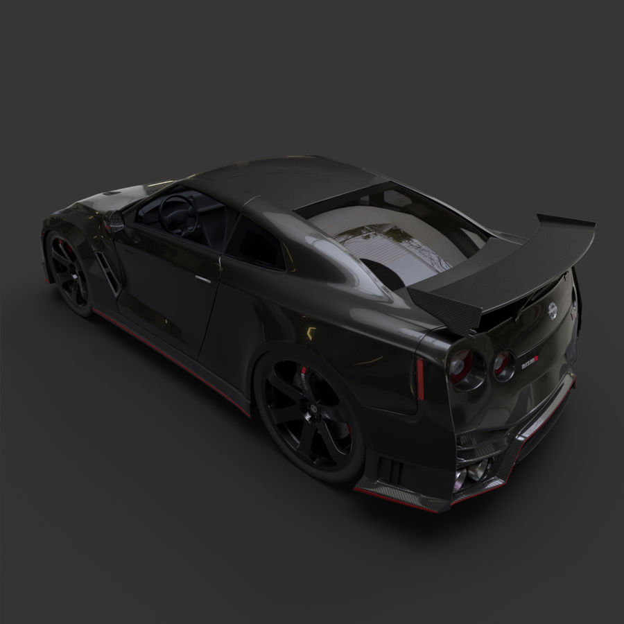Nissan GT-R Nismo royalty-free 3d model - Preview no. 3