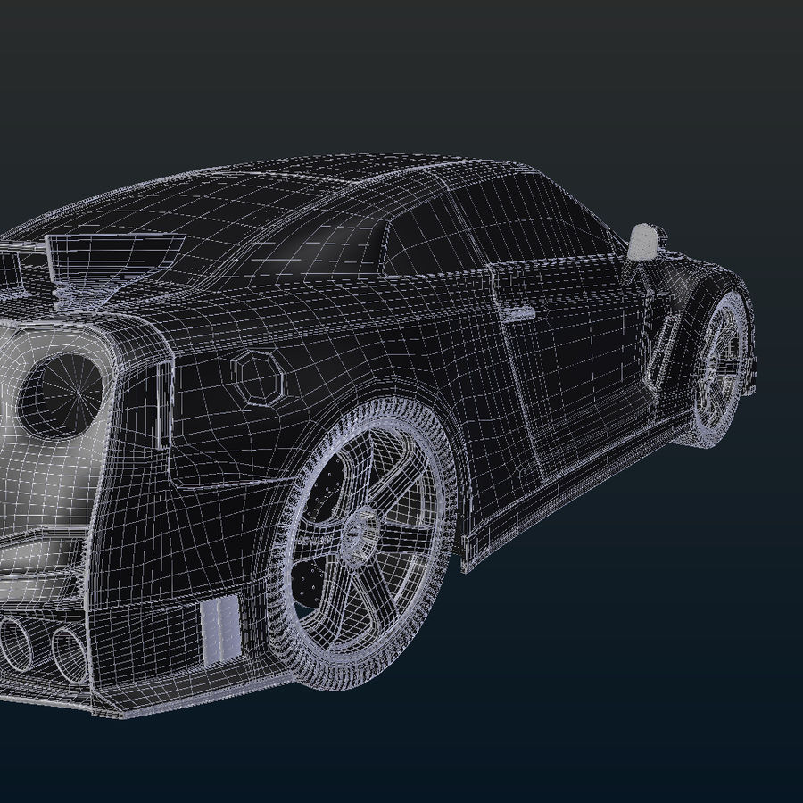 Nissan GT-R Nismo royalty-free 3d model - Preview no. 19