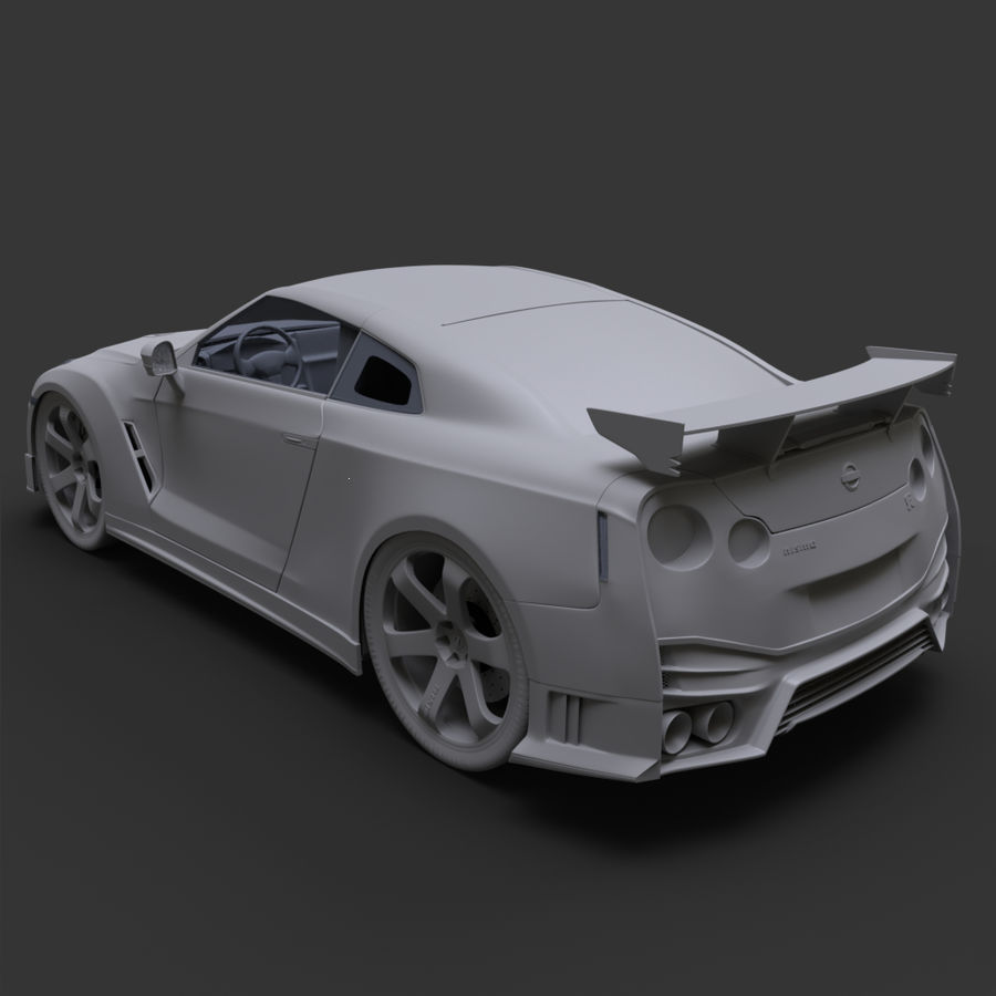 Nissan GT-R Nismo royalty-free 3d model - Preview no. 11