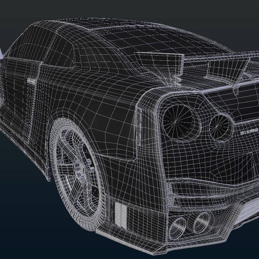 Nissan GT-R Nismo royalty-free 3d model - Preview no. 18