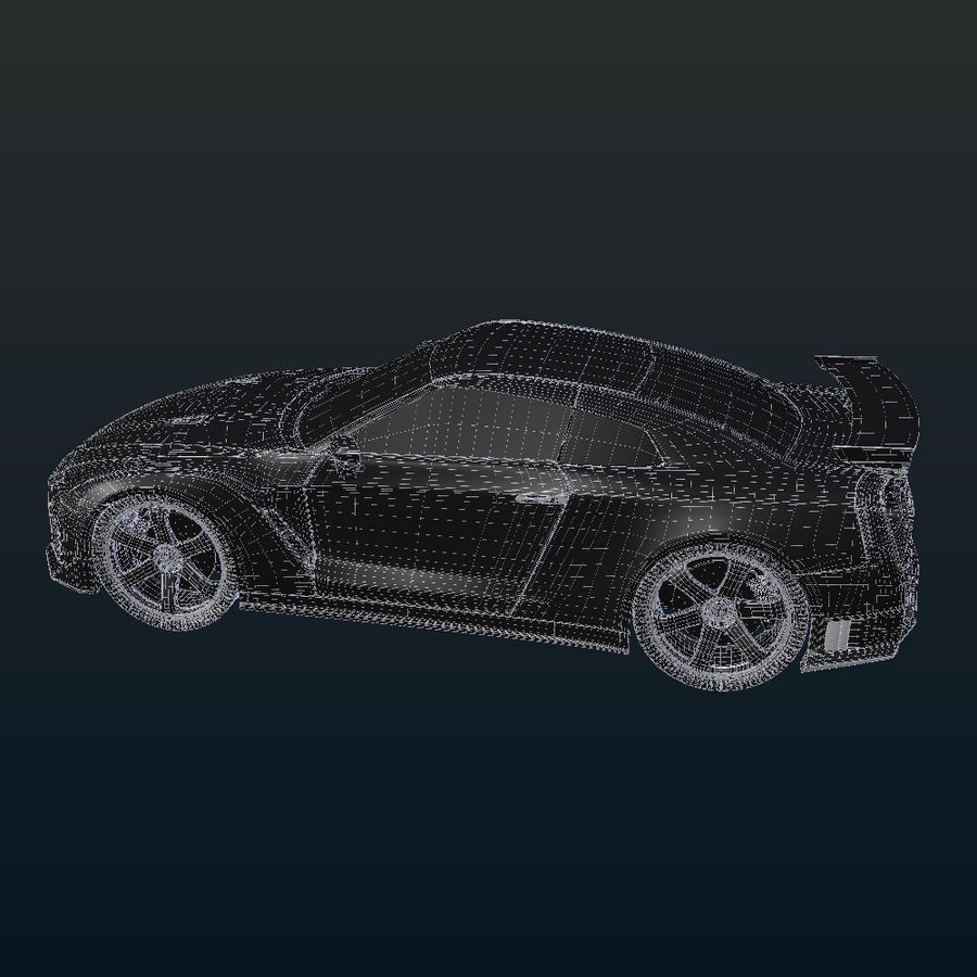 Nissan GT-R Nismo royalty-free 3d model - Preview no. 17