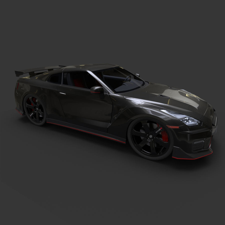 Nissan GT-R Nismo royalty-free 3d model - Preview no. 4