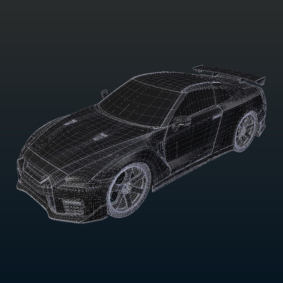Nissan GT-R Nismo royalty-free 3d model - Preview no. 16