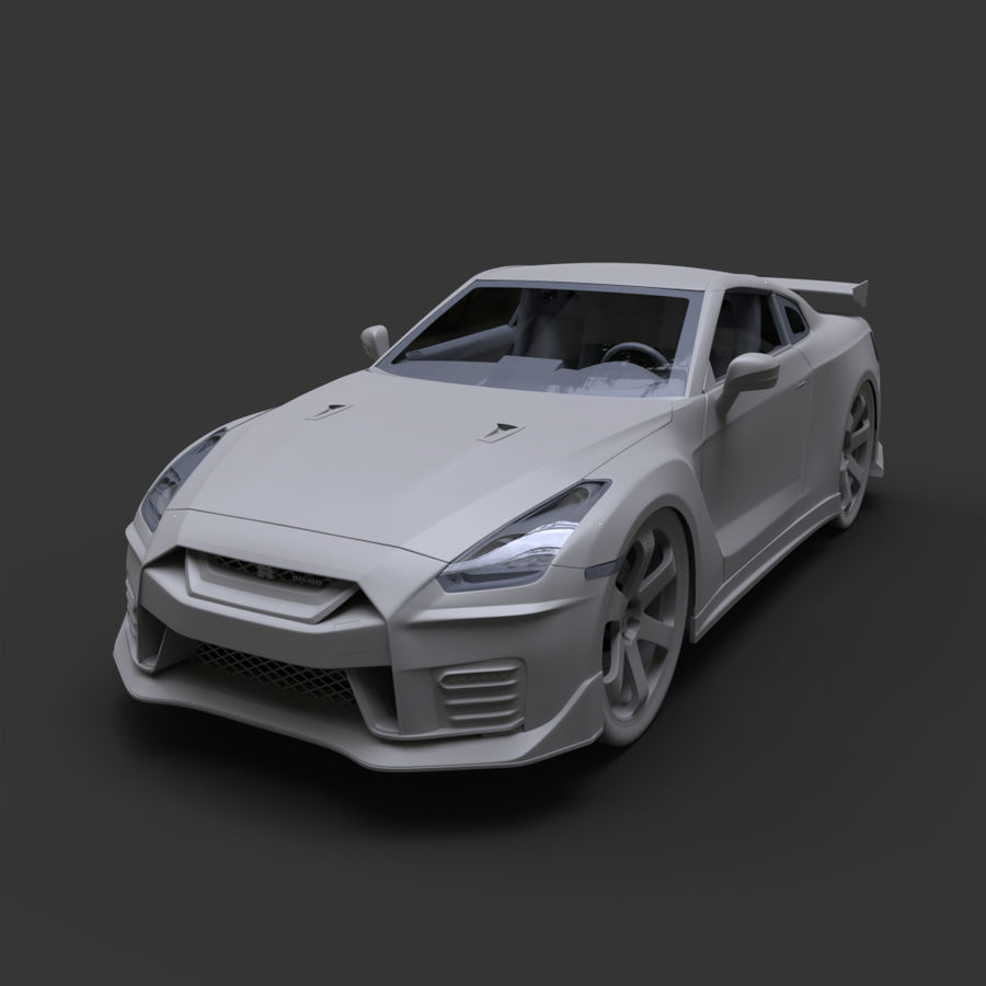 Nissan GT-R Nismo royalty-free 3d model - Preview no. 10