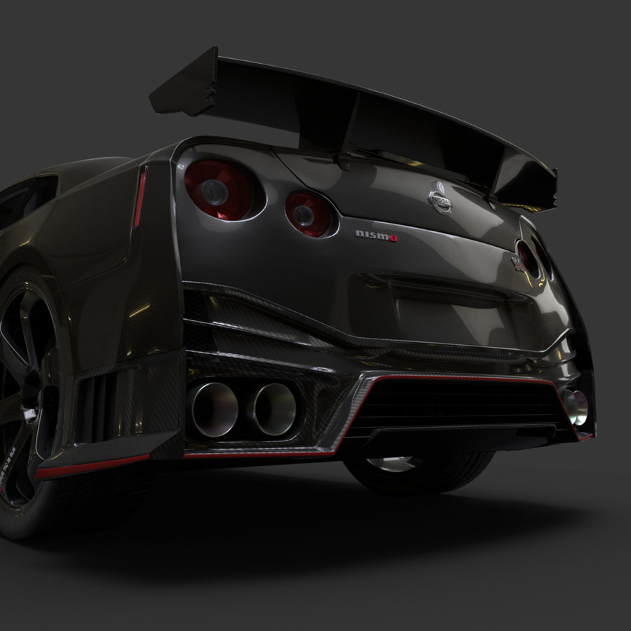 Nissan GT-R Nismo royalty-free 3d model - Preview no. 9