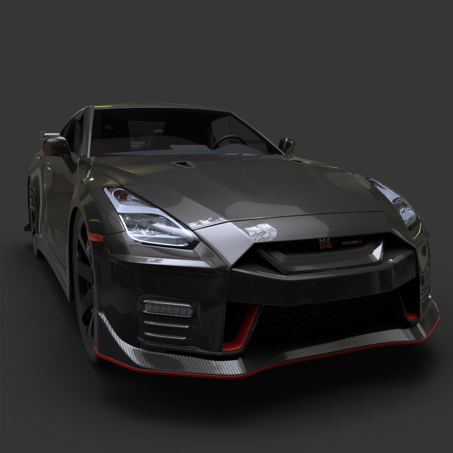 Nissan GT-R Nismo royalty-free 3d model - Preview no. 8