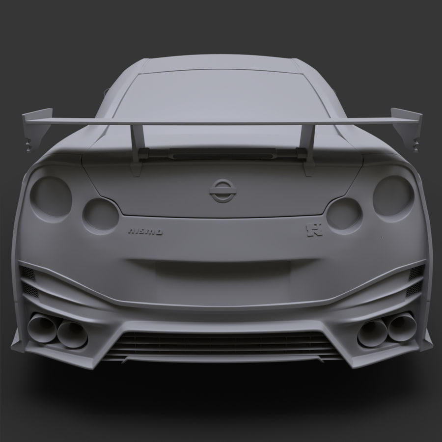 Nissan GT-R Nismo royalty-free 3d model - Preview no. 12