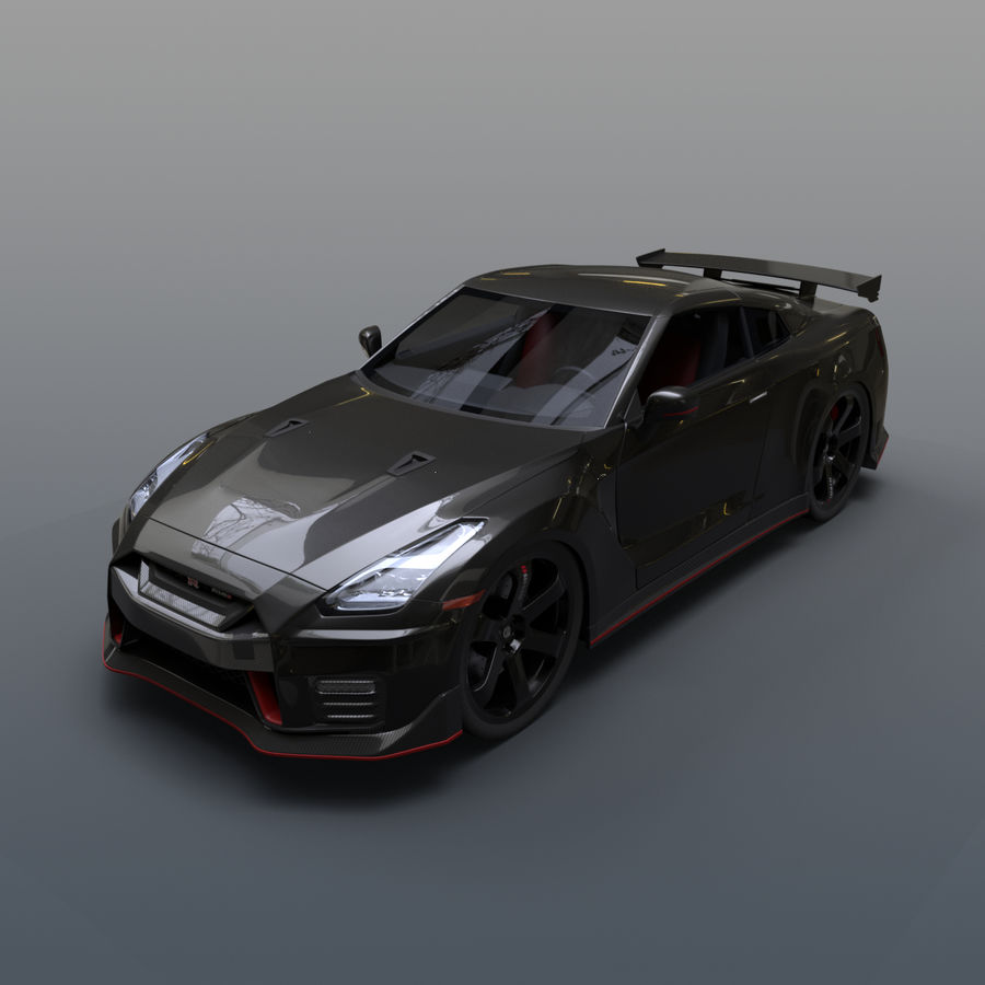 Nissan GT-R Nismo royalty-free 3d model - Preview no. 1