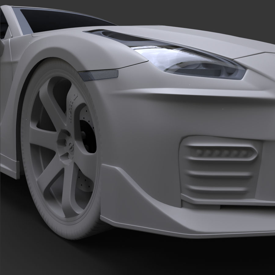 Nissan GT-R Nismo royalty-free 3d model - Preview no. 13