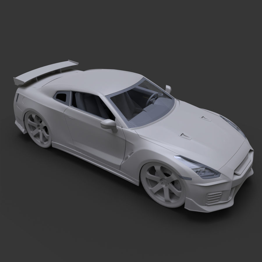 Nissan GT-R Nismo royalty-free 3d model - Preview no. 14