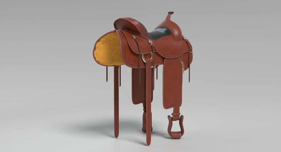 Horse Saddle royalty-free 3d model - Preview no. 9