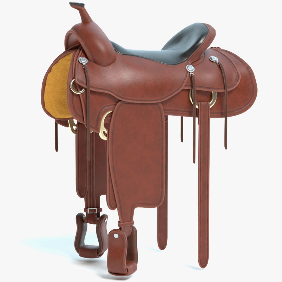 Horse Saddle royalty-free 3d model - Preview no. 1