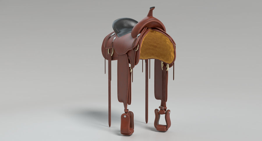 Horse Saddle royalty-free 3d model - Preview no. 7