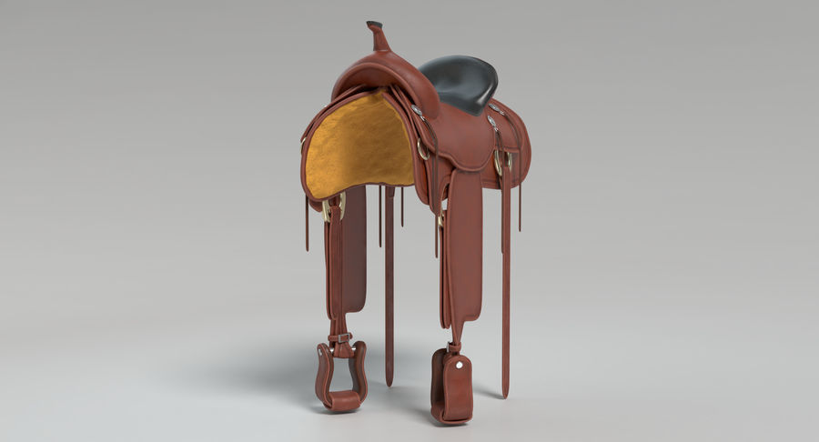 Horse Saddle royalty-free 3d model - Preview no. 6