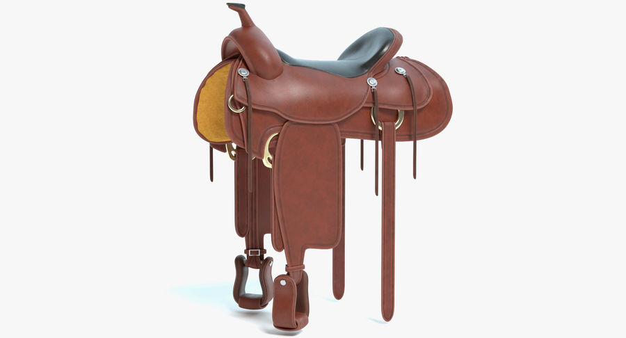 Horse Saddle royalty-free 3d model - Preview no. 2