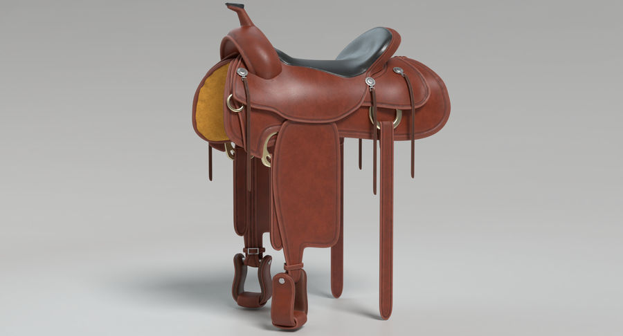 Horse Saddle royalty-free 3d model - Preview no. 3