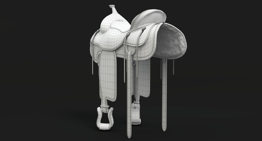 Horse Saddle royalty-free 3d model - Preview no. 15