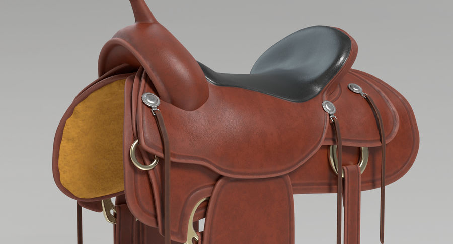 Horse Saddle royalty-free 3d model - Preview no. 4