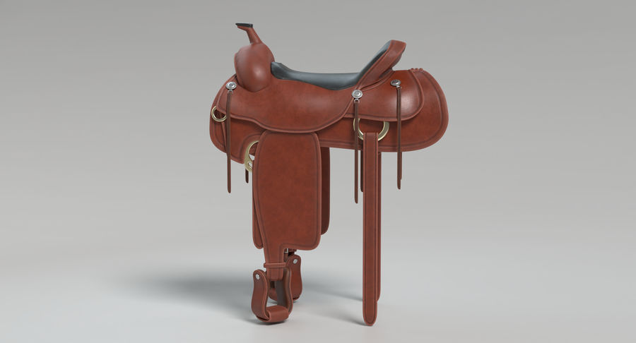 Horse Saddle royalty-free 3d model - Preview no. 11