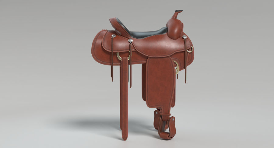 Horse Saddle royalty-free 3d model - Preview no. 8