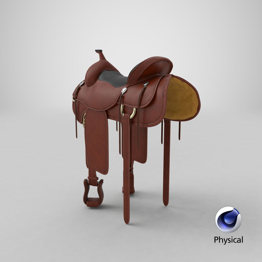 Horse Saddle royalty-free 3d model - Preview no. 22