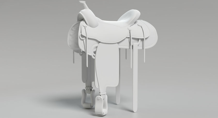 Horse Saddle royalty-free 3d model - Preview no. 12