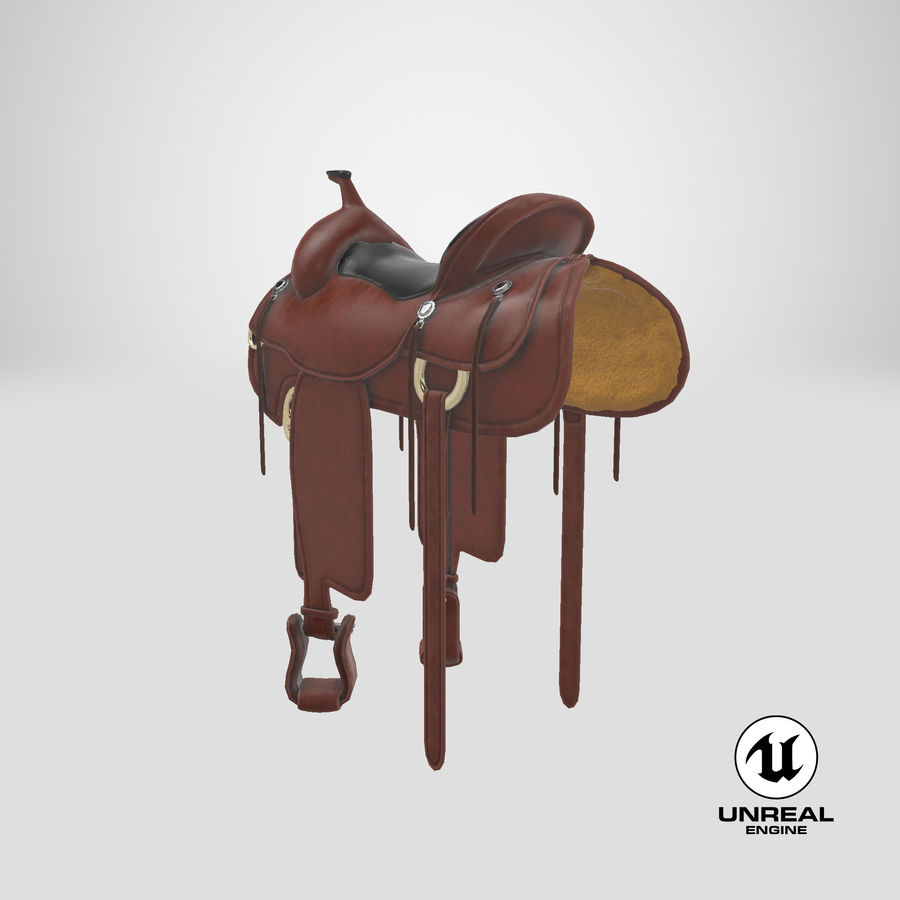 Horse Saddle royalty-free 3d model - Preview no. 23
