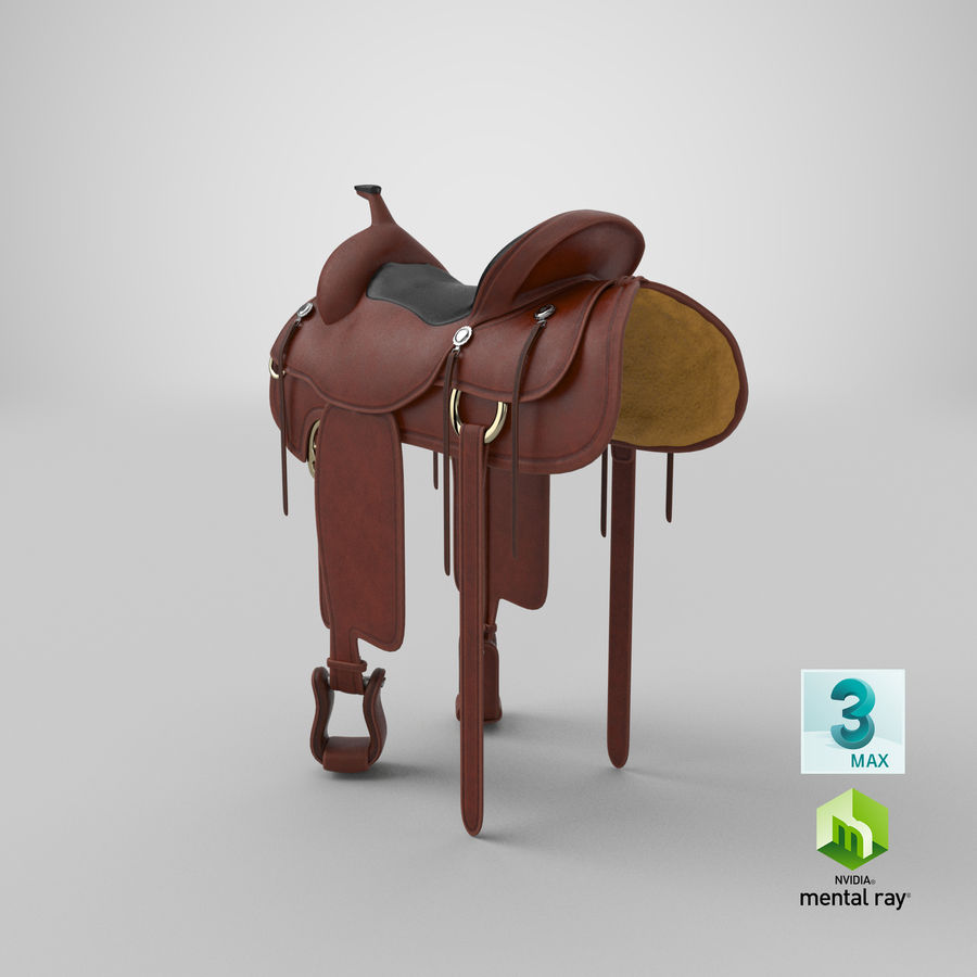 Horse Saddle royalty-free 3d model - Preview no. 21