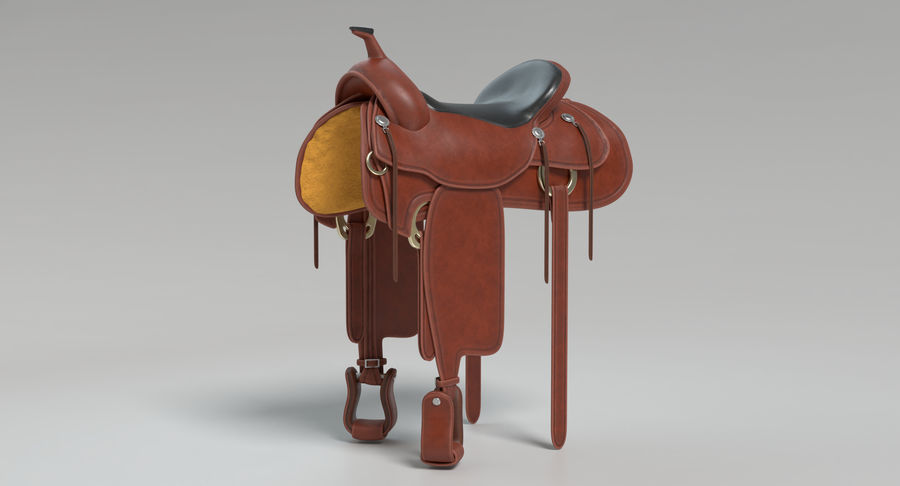Horse Saddle royalty-free 3d model - Preview no. 5