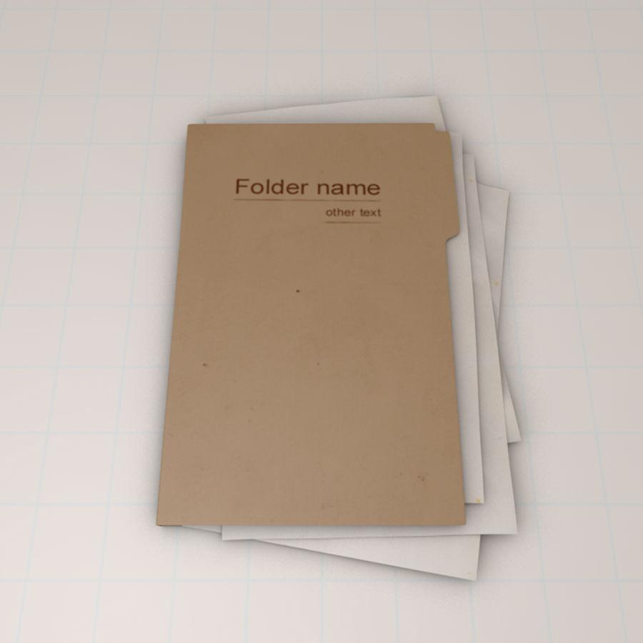 File Folder royalty-free 3d model - Preview no. 3