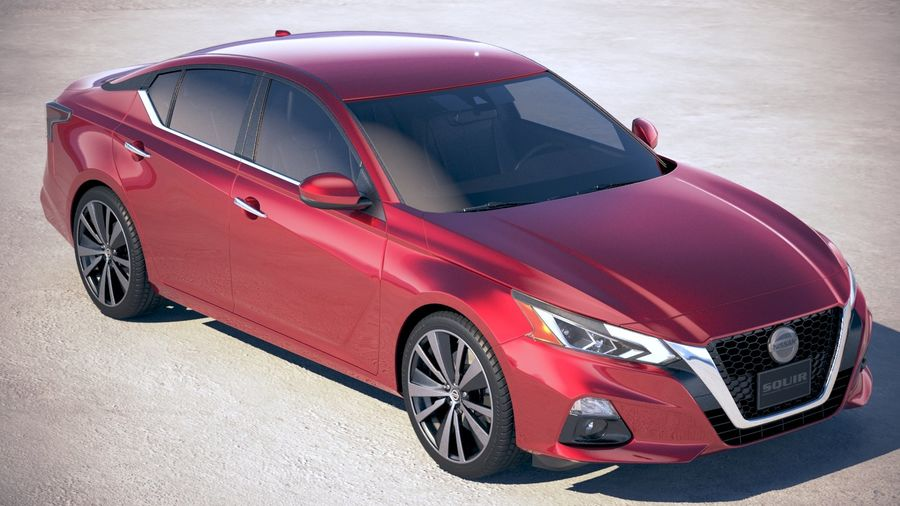 Nissan Altima 2019 royalty-free 3d model - Preview no. 12