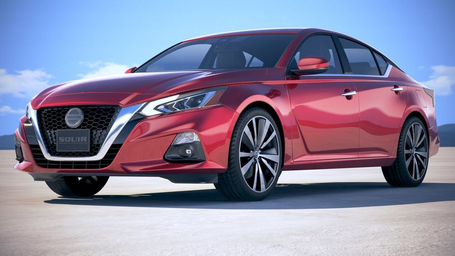 Nissan Altima 2019 royalty-free 3d model - Preview no. 13