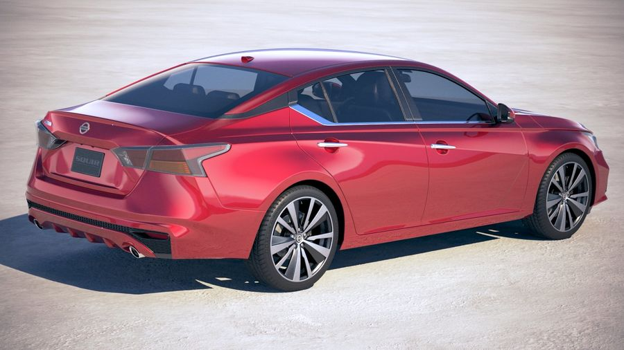 Nissan Altima 2019 royalty-free 3d model - Preview no. 5