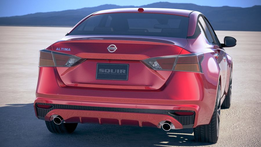 Nissan Altima 2019 royalty-free 3d model - Preview no. 6