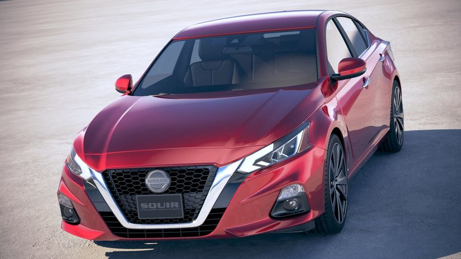 Nissan Altima 2019 royalty-free 3d model - Preview no. 2