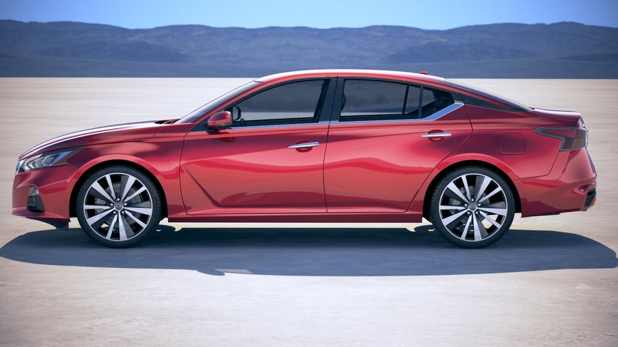 Nissan Altima 2019 royalty-free 3d model - Preview no. 7