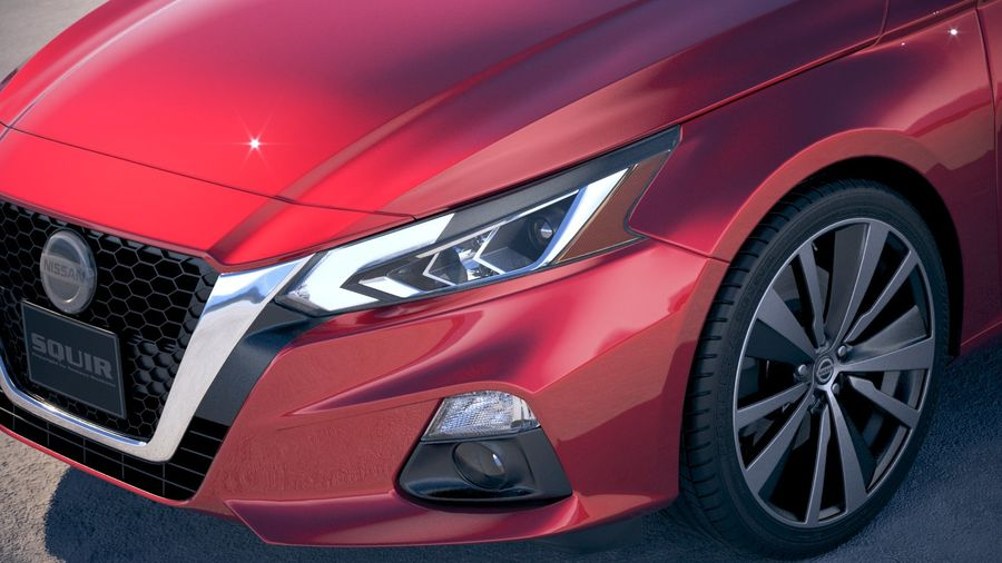 Nissan Altima 2019 royalty-free 3d model - Preview no. 3