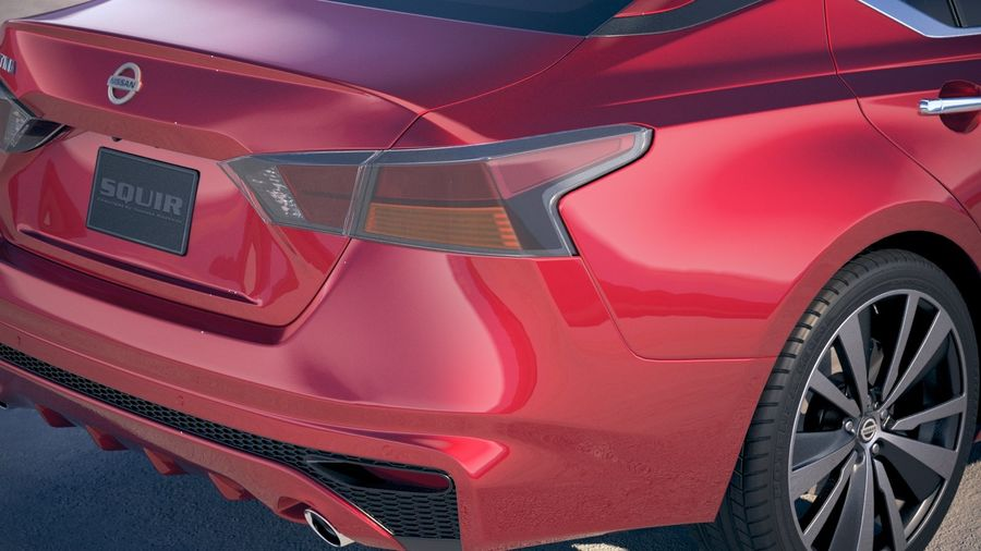 Nissan Altima 2019 royalty-free 3d model - Preview no. 4
