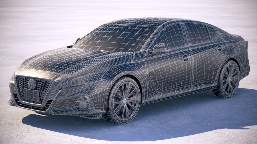 Nissan Altima 2019 royalty-free 3d model - Preview no. 20