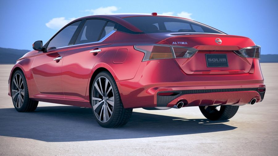 Nissan Altima 2019 royalty-free 3d model - Preview no. 14