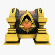 Cartoon Chest gold stone 3d model