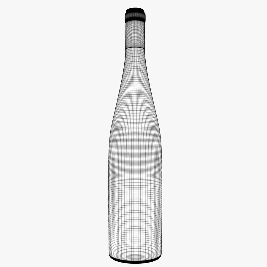 Botella de vino royalty-free modelo 3d - Preview no. 3