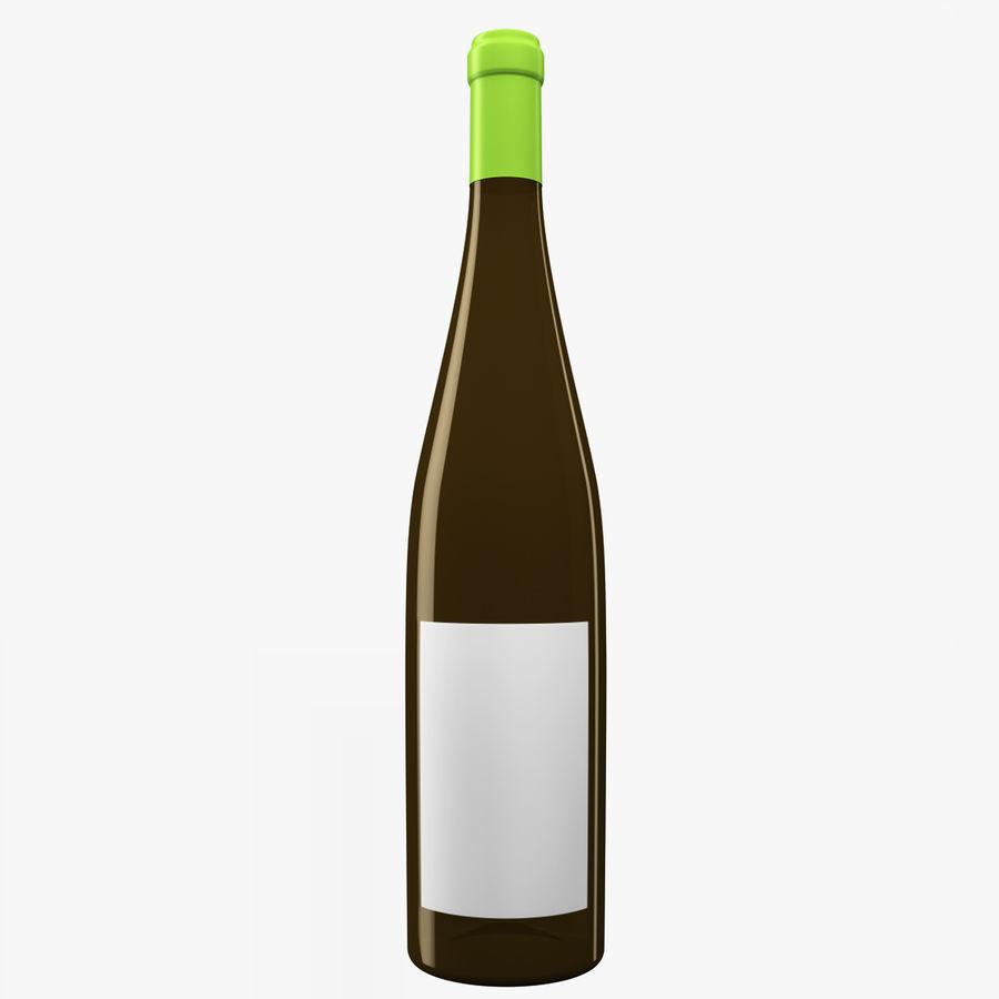 Botella de vino royalty-free modelo 3d - Preview no. 1