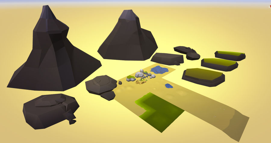 Low Poly Beach Pack royalty-free 3d model - Preview no. 3