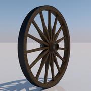 荷馬車の車輪 3d model