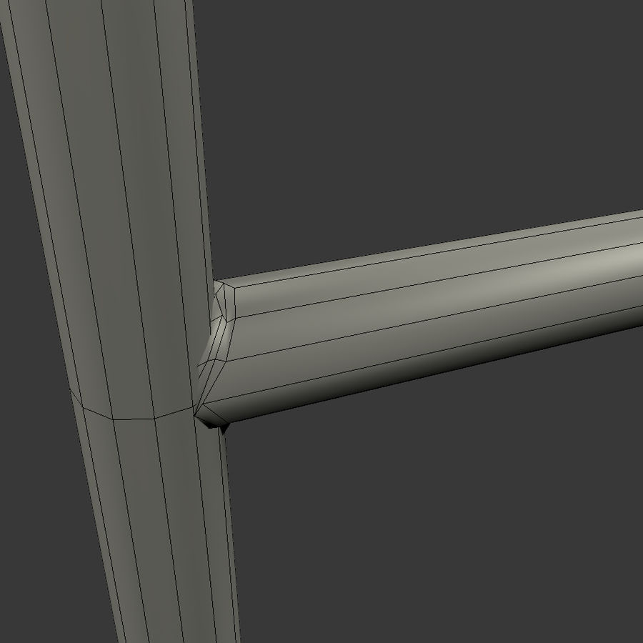 Fragment einer Metalltreppe royalty-free 3d model - Preview no. 9