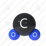 Atom dwutlenku węgla 3d model
