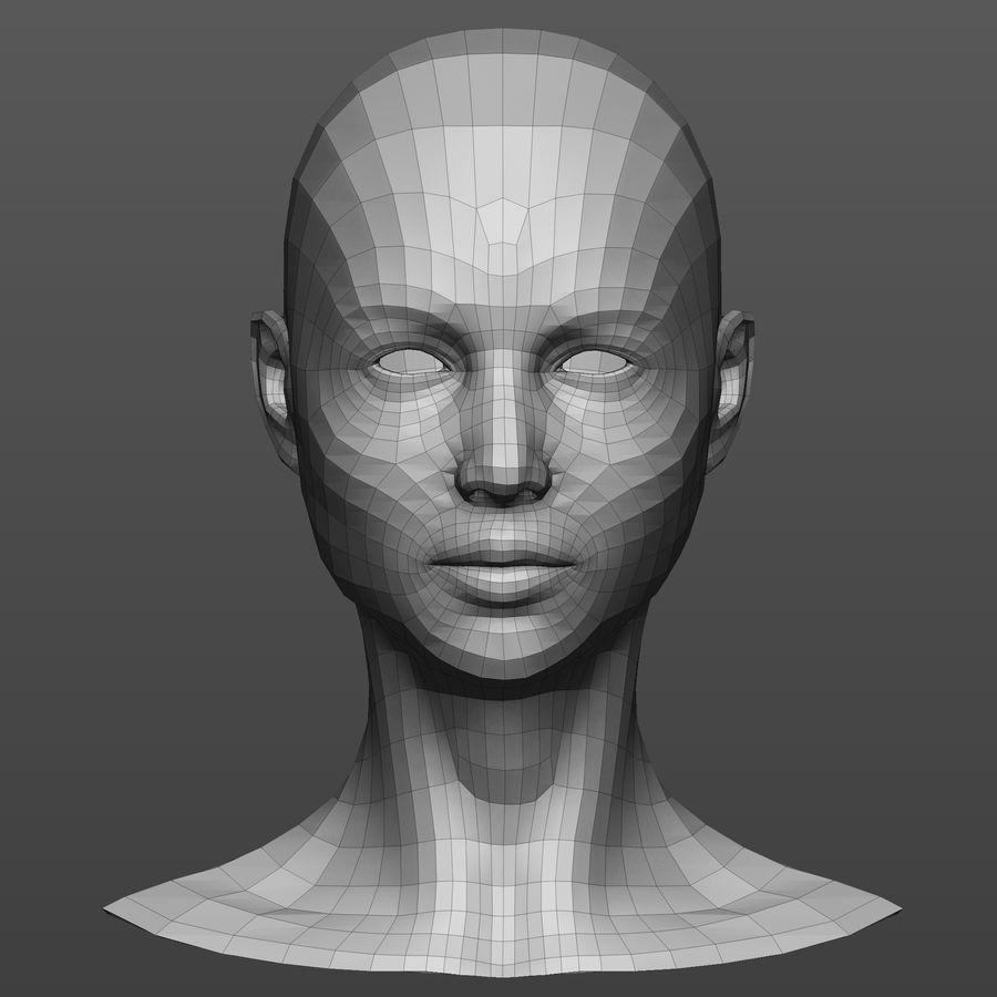 Basmaskar han / kvinnlig huvud royalty-free 3d model - Preview no. 3