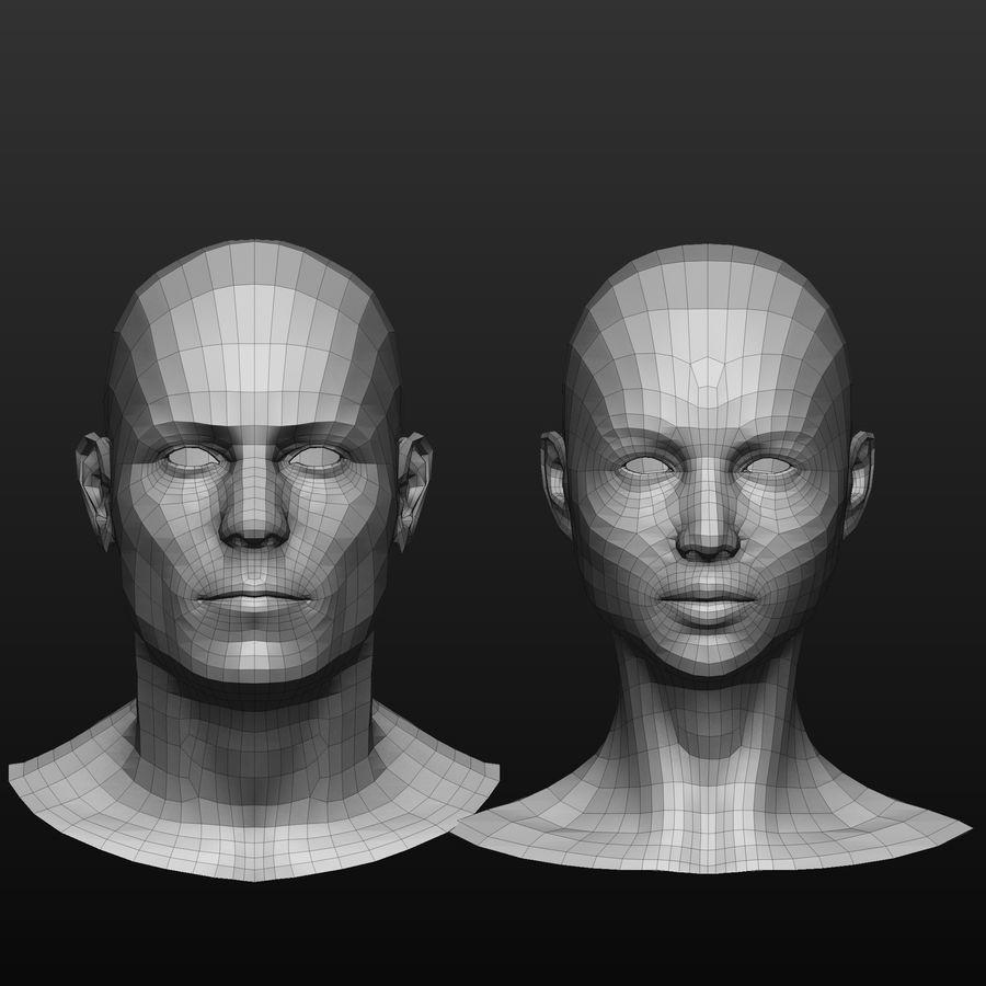 Basmaskar han / kvinnlig huvud royalty-free 3d model - Preview no. 1